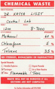 Chem Waste label