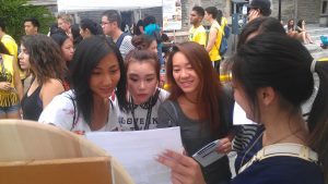 Students at Clubs Day