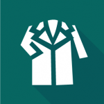 Teal Lab Coat Icon