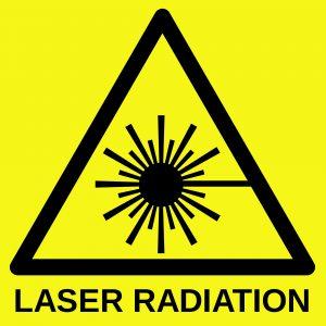 Laser radiation sign